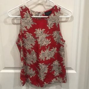 Floral Topshop sleeveless top